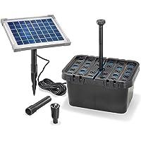 Juego de filtros solares para estanque de 470 l/h, potencia de extracción de 5 W, módulo solar, juego completo hasta…