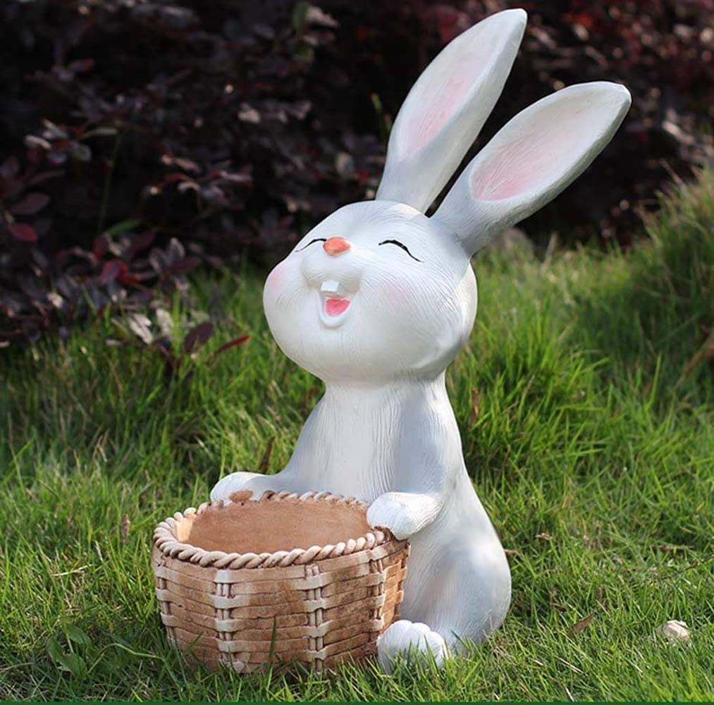 芸術的 庭の装飾漫画のウサギの屋外景観彫刻庭園と保育園の面積の装飾 (色 : B)