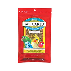 LAFEBER'S Original Flavor Avi-Cakes for Parakeets, Cockatiels & Conures – Best cockatiel food overall