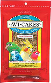 product image for LAFEBER'S Classic Avi-Cakes Pet Bird Food, Made with Non-GMO and Human-Grade Ingredients, for Cockatiels Conures Parakeets (Budgies) Lovebirds