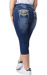 c0c33c5eacb WallFlower Women s Plus Size Bling Luscious Curvy Capri Crop