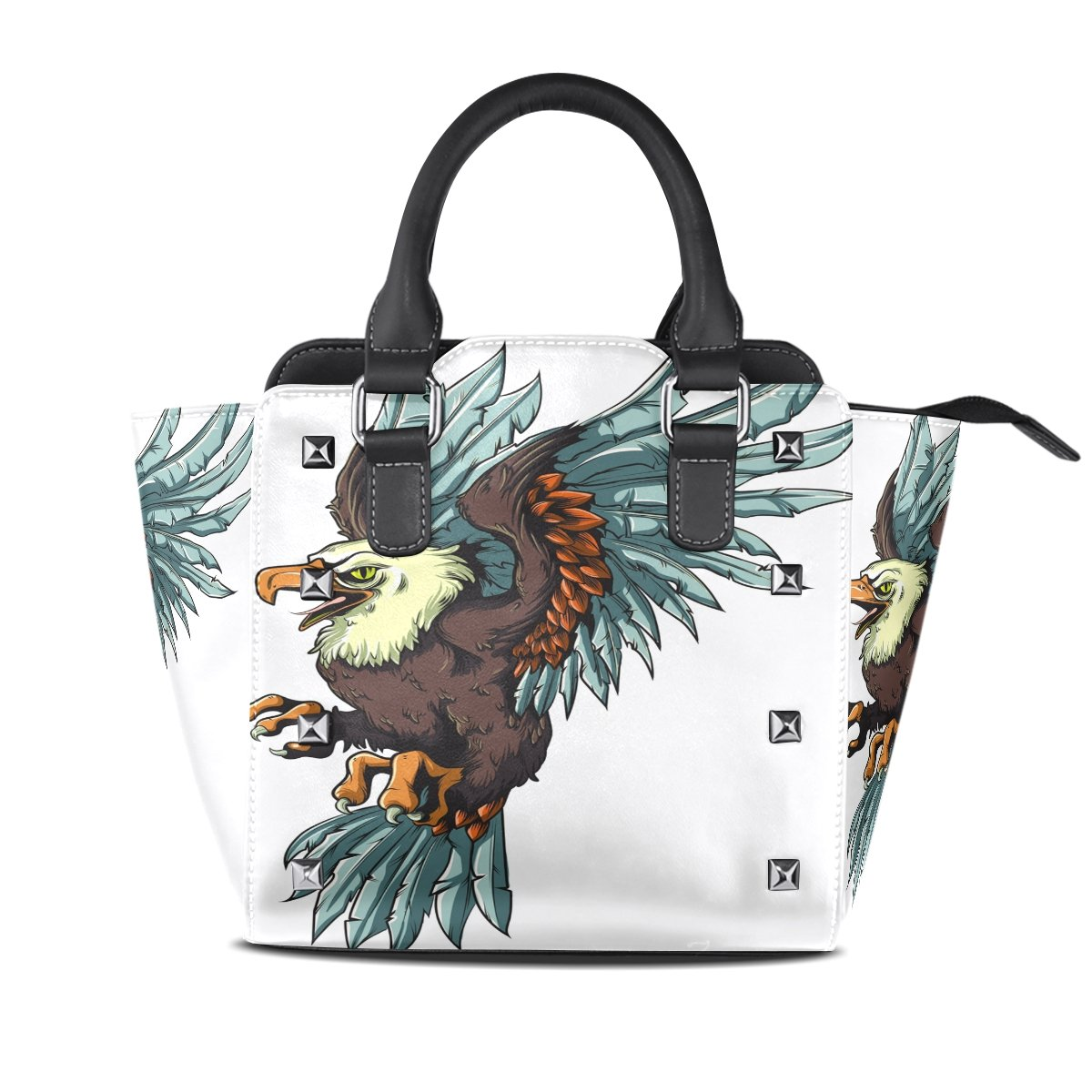 Womens Genuine Leather Hangbags Tote Bags Eagle Purse Shoulder Bags