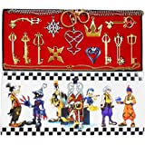 Kingdom Hearts Keyblade Keychain Pendant Necklace Set Collection 13pcs