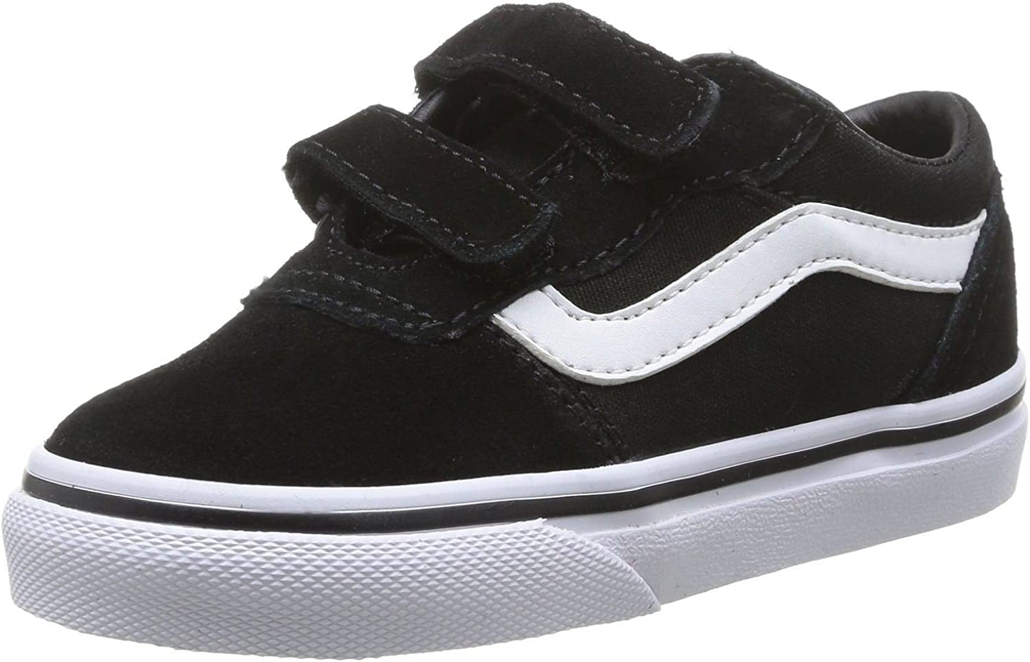 Indígena Dar permiso Rudyard Kipling  Vans Milton V Black White Toddlers Suede Velcro Trainers Shoes-9:  Amazon.co.uk: Shoes & Bags