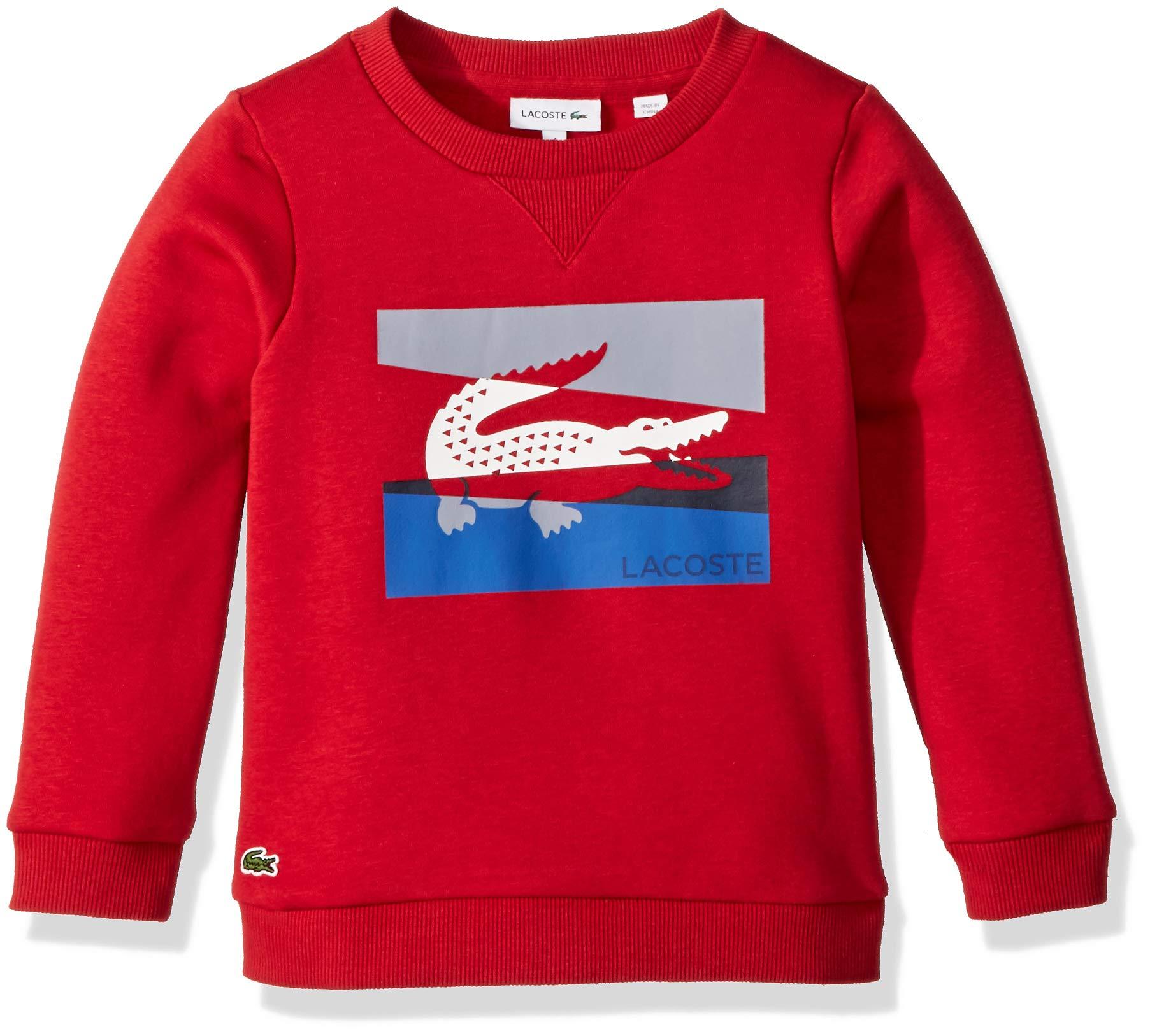 Lacoste Little Boy Multico Animation Sweatshirt, Lighthouse red, 5