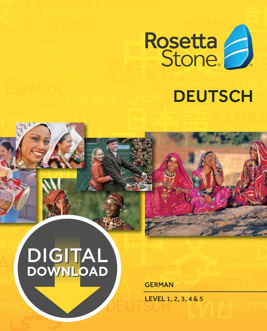 German customer account create/downloader - Amazon Com Rosetta Stone German Level 1 5 Set For Mac Download Software