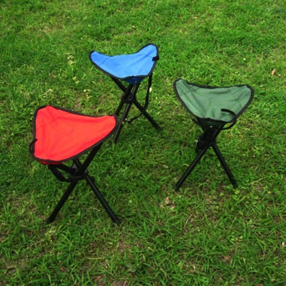Color : Blue Huanhog Portable Folding Tripod Chair Portable Folding Chair Fishing Chair Camping Outdoor Stool Portable Folding Adjustable Aluminum Outdoor Picni