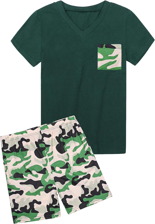 Hawiton Pijama de 100% algodón de Manga Largos para niños,Pijama de 6-16 años,Camiseta Pura y Pantalones de celosía con cordón y Bolsillos Ropa de ...