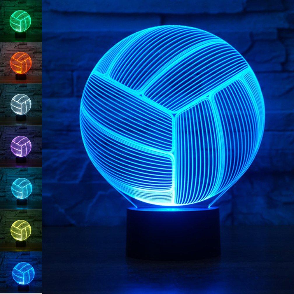 Amazon Com 3d Optical Illusion Led Night Light Lamp Crown