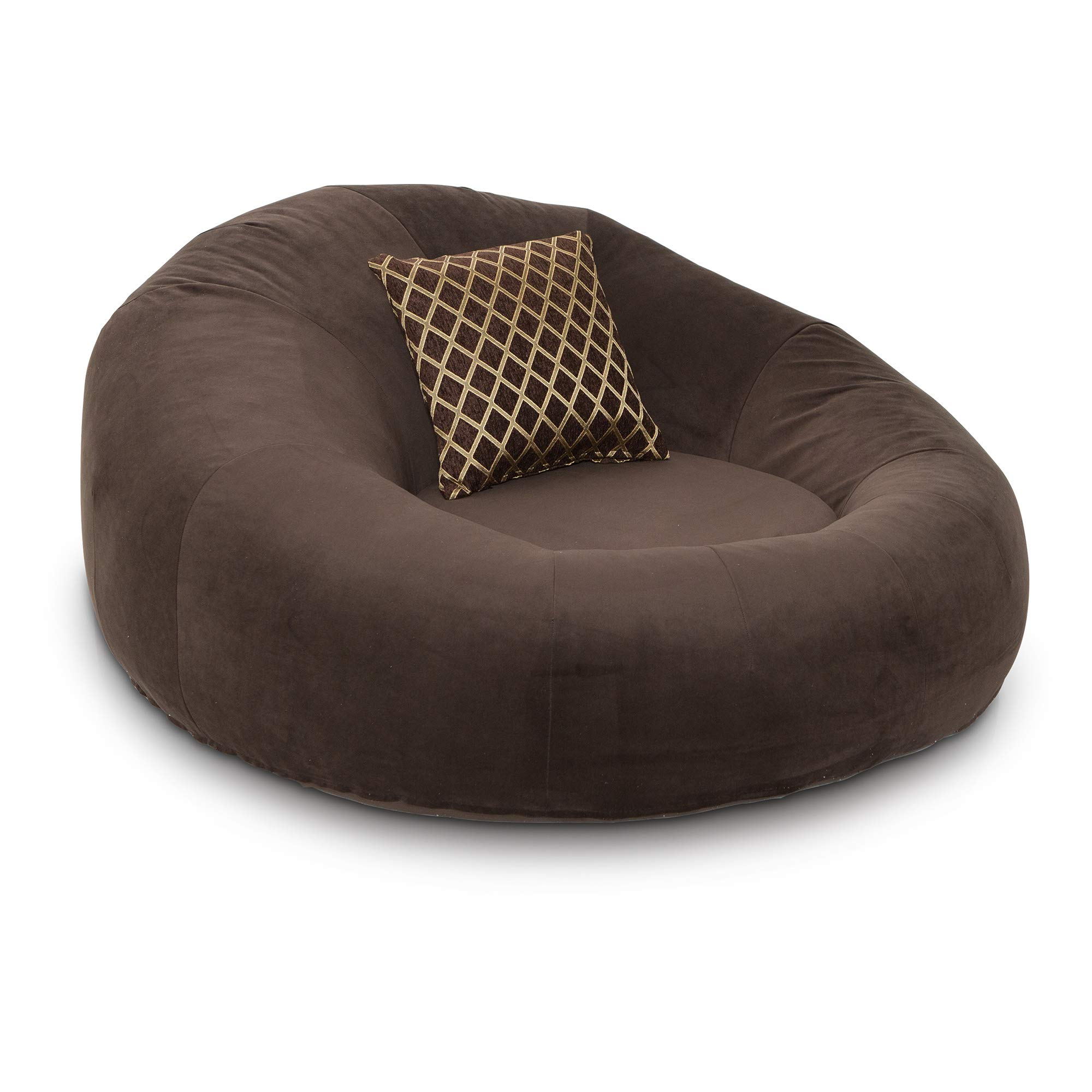 Seatcraft 1971 Bella Fabric Home Theater Seat Foam Round Lounge Cuddle Chair, Sofa, Brown by Seatcraft