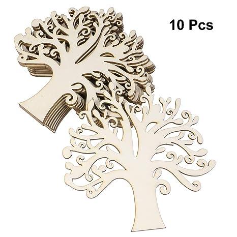 Amazon.com: Healifty - 10 discos de madera con forma de ...