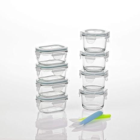 Amazon.com: Glasslock comida para bebés recipiente de vidrio ...