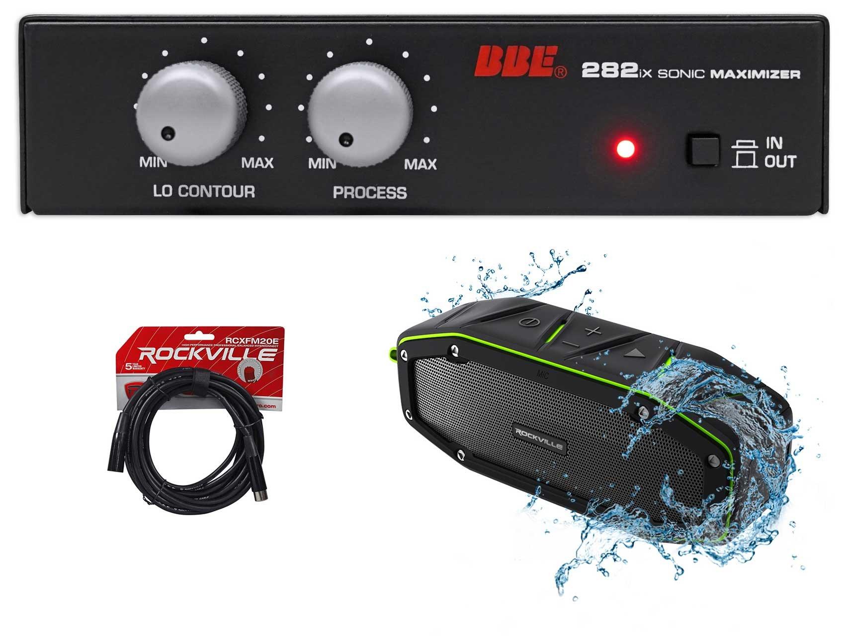 BBE 282IX Desktop Sonic Maximizer w/XLR Inputs/Outputs+Bluetooth Speaker+Cable