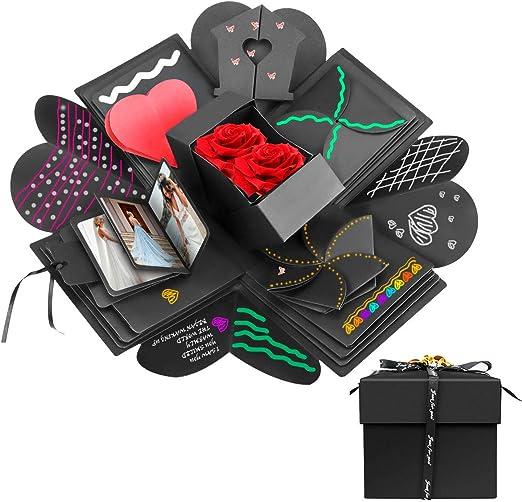 Powcan Caja de Regalo Creative Explosion Love Memory DIY Álbum de Fotos cumpleaños, una Sorpresa sobre el Amor, Negro. (Caja de Regalo): Amazon.es: Hogar