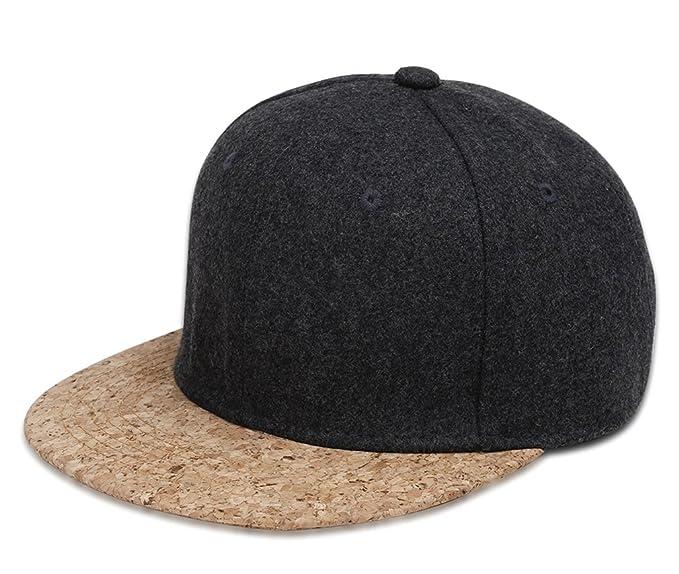 b2e07e63f6962 MT-NUZADA Cotton Blend Adjustable Baseball Cap with Wide Cork Brim ...