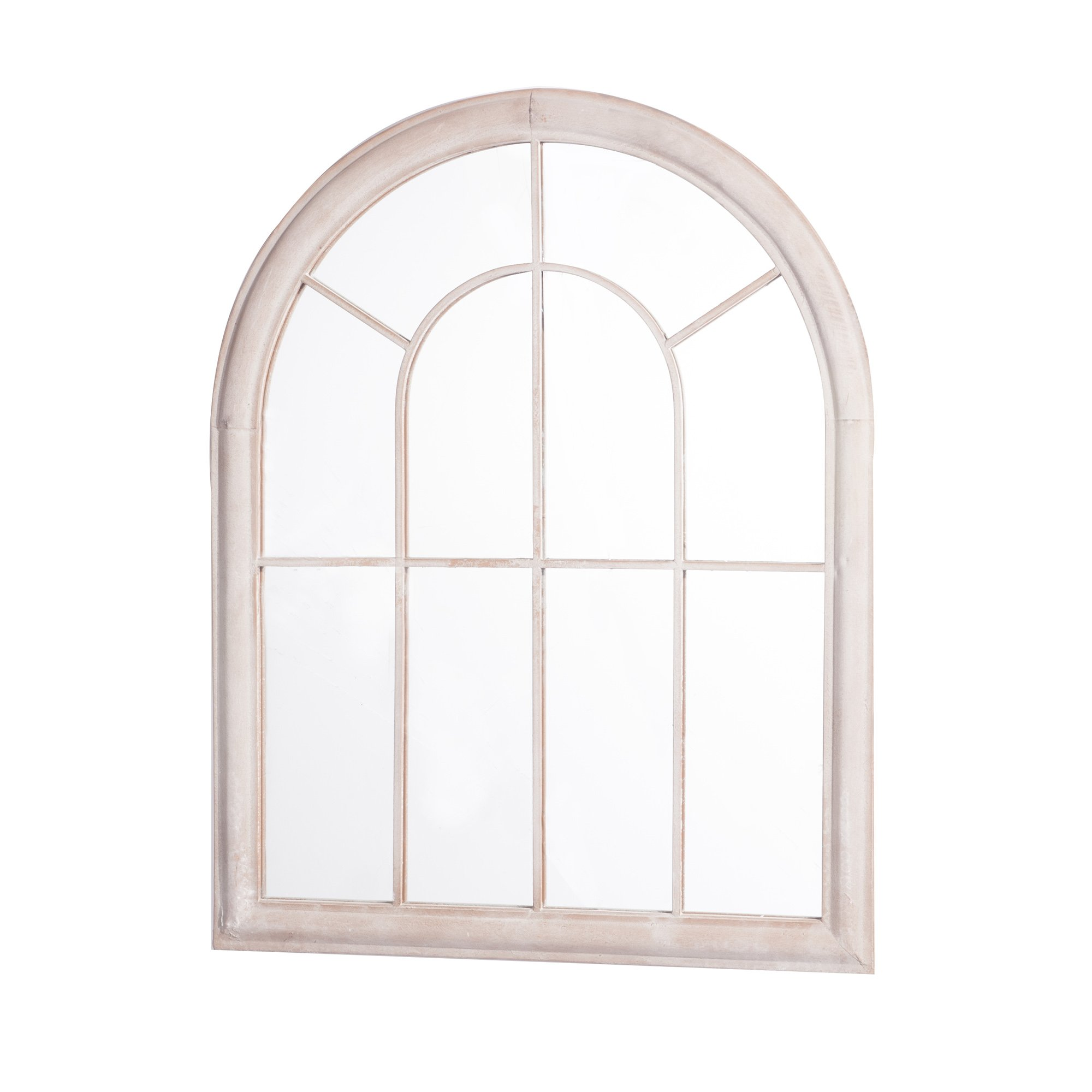 Sunjoy Round Top Windowpane Style Rectangle Mirror