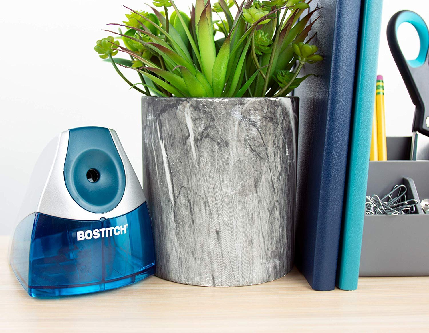 Bostitch Personal Electric Pencil Sharpener, Blue (EPS4-BLUE) - 5 Pack by Bostitch Office (Image #6)