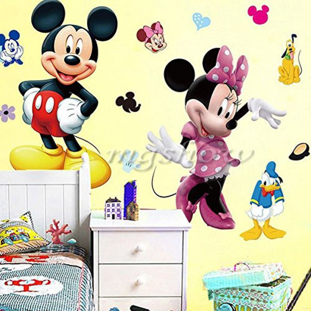 Amazon.com: Mickey Minnie Mouse Kids Room Decor Disney Wall Sticker ...