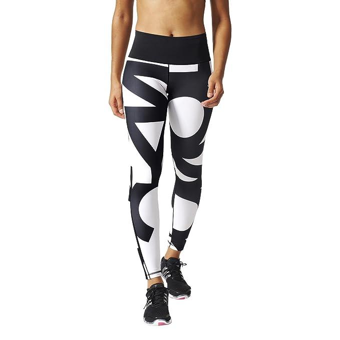 3d650995412 adidas Women's WO HR Long Typo Tights Black/White, Large: Amazon.co.uk:  Sports & Outdoors