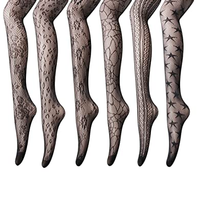 d06a139735a7a Women's Fishnet Stockings Tights - 6 Pairs of Sexy Fishnets Bodystockings  Pantyhose For Party, Dancing