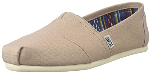 TOMS Canvas Classic Alpargata, Zapatillas de Estar por casa para Mujer, Gris (Light