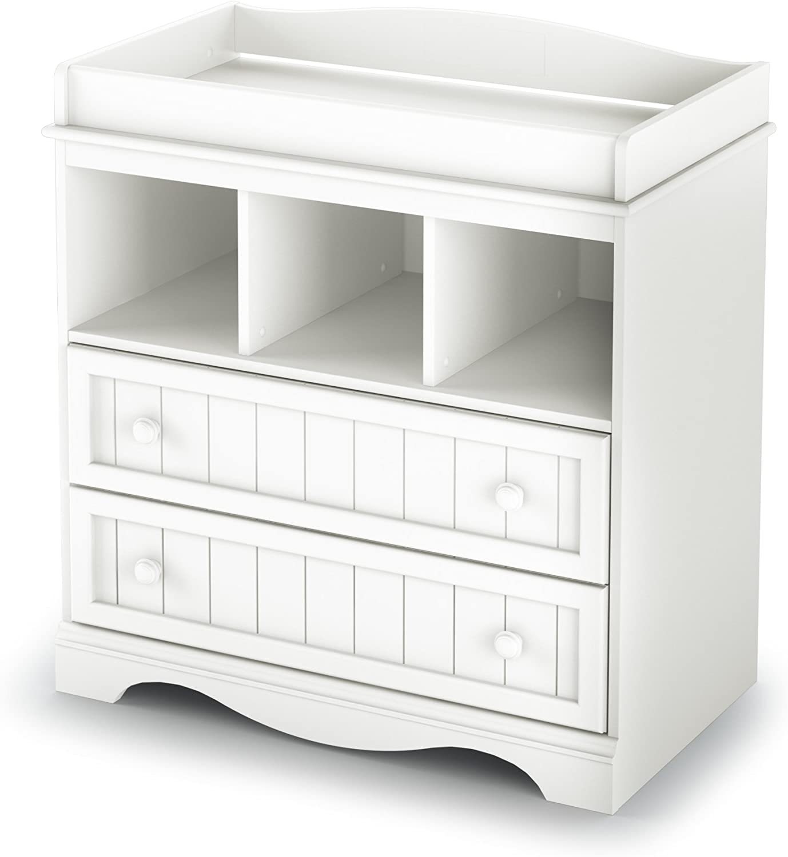 B0006HJDQE South Shore Savannah 2-Drawer Changing Table, Pure White 71b62B0PHoiL.SL1500_