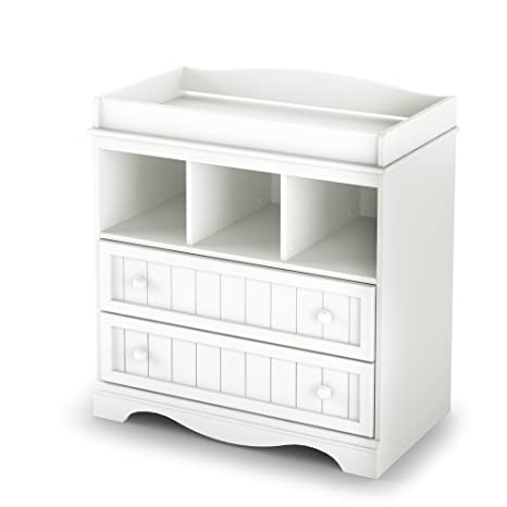 Cool South Shore Savannah 2 Drawer Changing Table Pure White Download Free Architecture Designs Remcamadebymaigaardcom