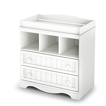 South Shore Savannah 2 Drawer Changing Table, Pure White
