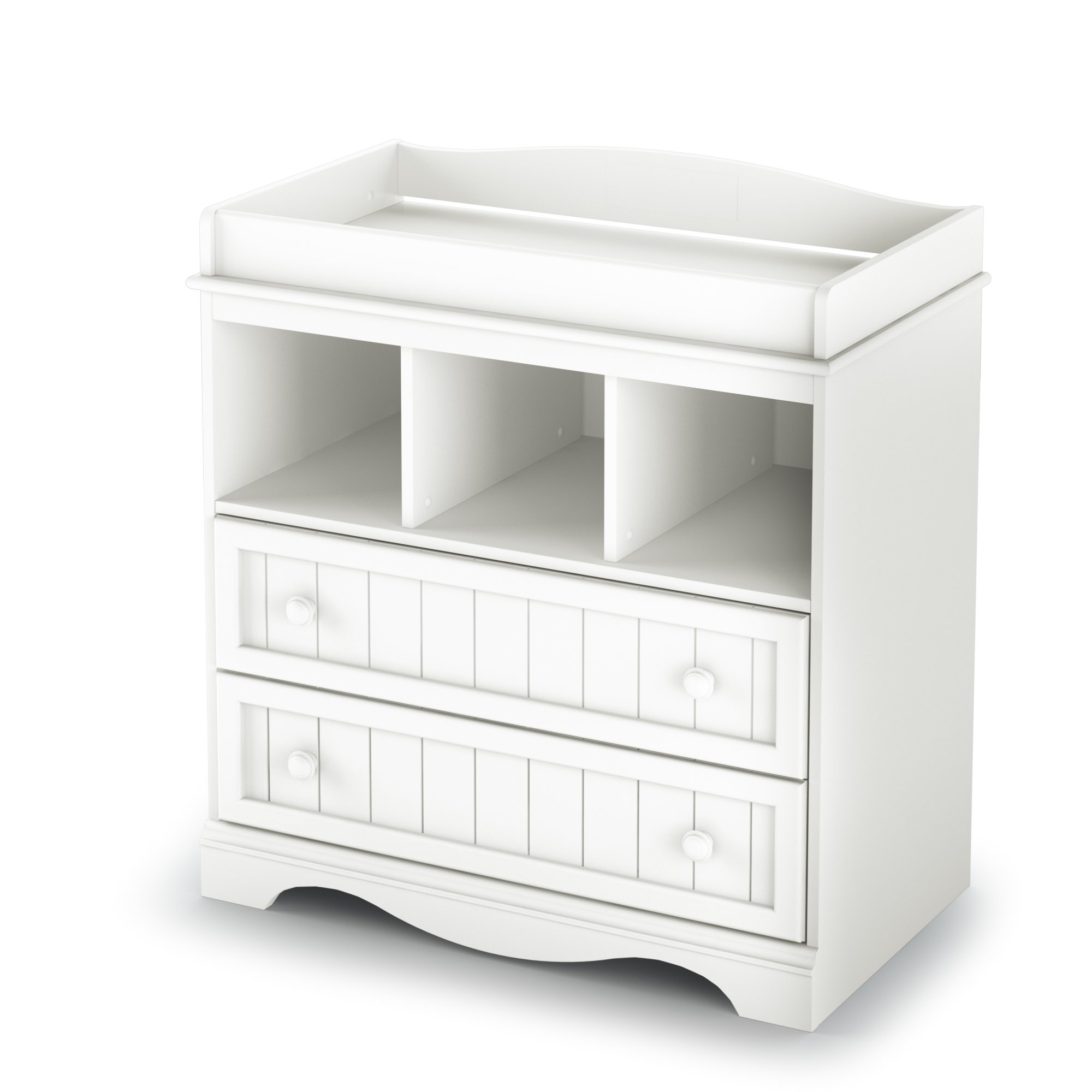 South Shore  Savannah 2-Drawer Changing Table, Pure White by South Shore