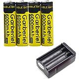 imydeal 4PCS 6000mAh 3.7V 18650 Battery Recargable 18650Battery 1 PCS Dual Smart 18650Charger