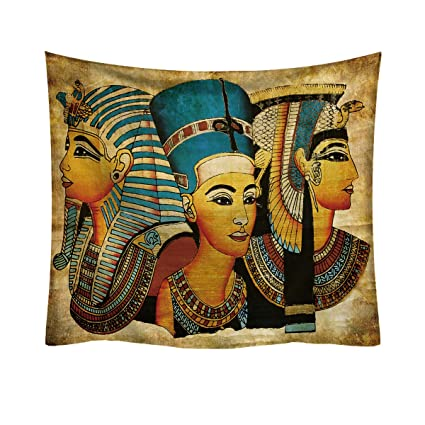 Amazon.com: Egyptian Themed Tapestry Wall Hanging Tapestry Backdrop ...