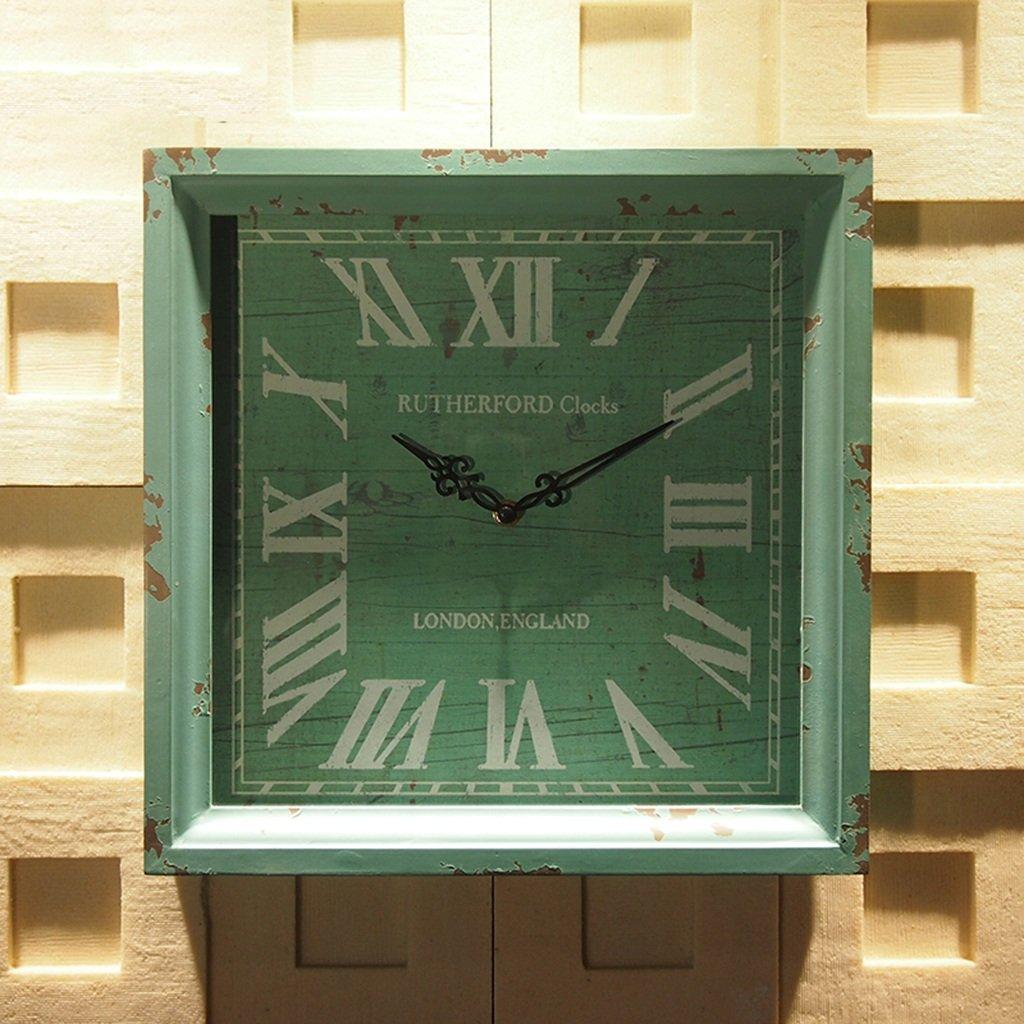 GRJH® アメリカンスタイルの壁の装飾木製のレトロの壁時計クリエイティブベッドルームの居間の正方形の時計クリエイティブウォールの装飾 クリエイティブファッションシンプル ( 色 : #1 ) B07CNLHB2W #1 #1