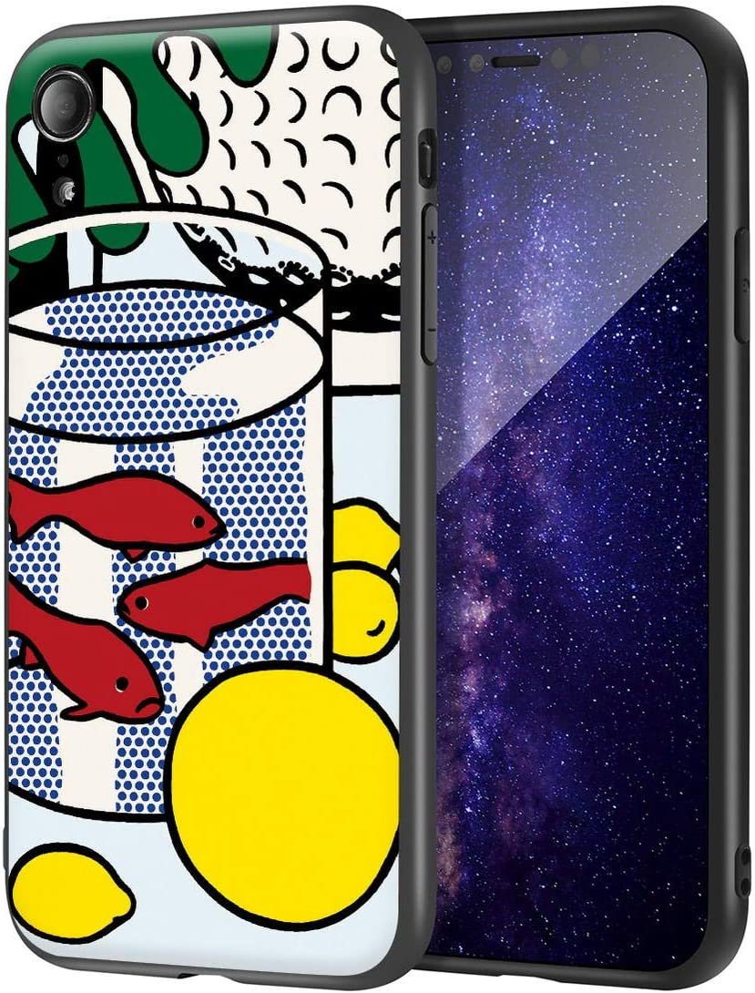 Roy Lichtenstein for iPhone XR Case/Art Cellphone Case/Giclee UV Reproduction Print on Mobile Phone Cover(Untitled 2)