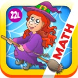 Math Bingo and Math Drills Challenge Learning Games for Pre-K to Fourth Grade - Halloween Adventure Basic School Math: Numbers, Addition, Subtraction, Multiplication and Division (Preschool Kids, Kindergarten, Grade 1, 2, 3 and 4) by Abby Monkey®