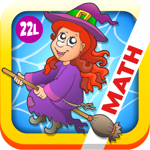 Math Bingo and Math Drills Challenge Learning Games for Pre-K to Fourth Grade - Halloween Adventure Basic School Math: Numbers, Addition, Subtraction, Multiplication and Division (Preschool Kids, Kindergarten, Grade 1, 2, 3 and 4) by Abby Monkey®]()