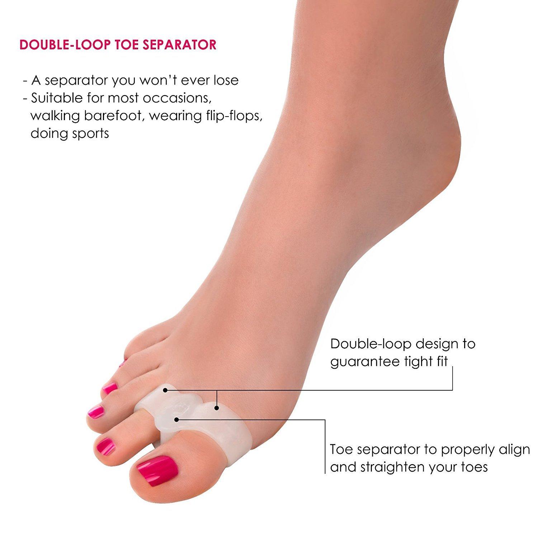 ... Toe Separadores/alineación/para torcido dedos alineación/Toe Juanete/ Anti Fricción - evitar apretar - Foot Care: Amazon.es: Salud y cuidado personal