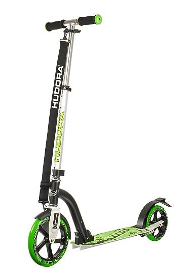 Hudora 14230 Bold Wheel 230 - Patinete, Color Plateado y Verde