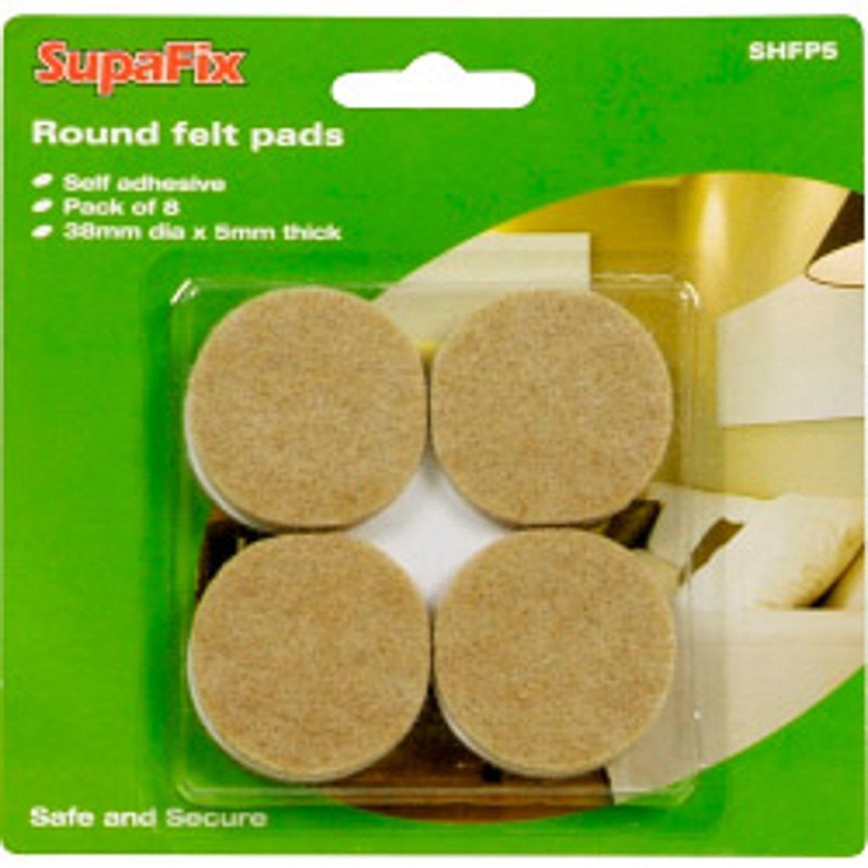 Pack of 8 self adhesive 38mm diameter round felt pads Amazon