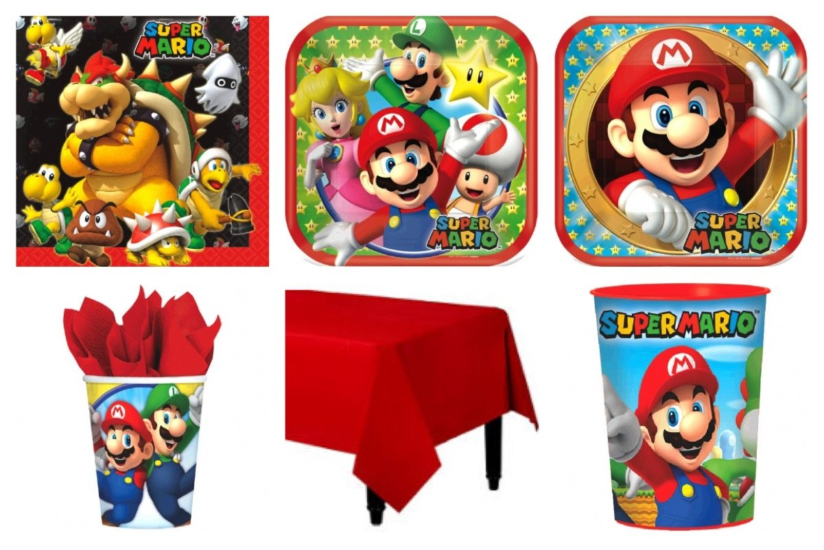 Amazon.com: Super Mario Bros. Party Supplies Standard Kit ...