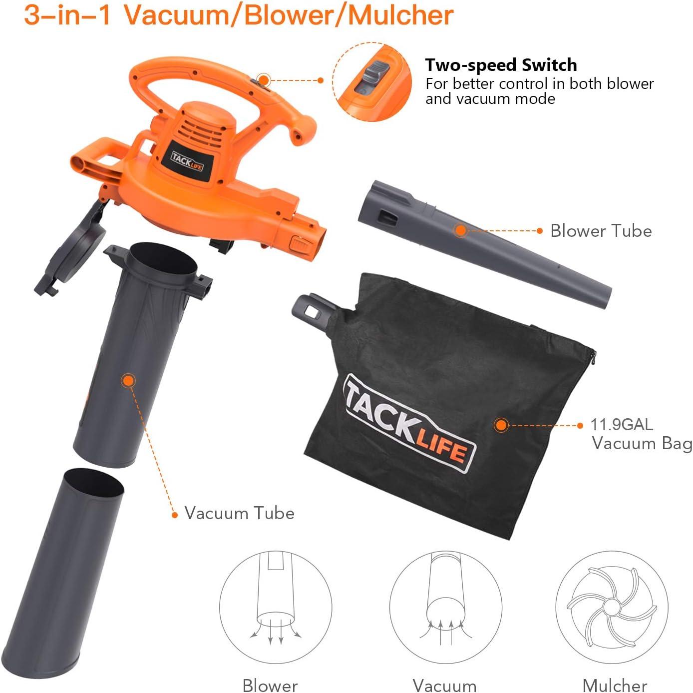 Amazon.com: TACKLIFE - Vacío, 540 CFM, velocidad variable ...