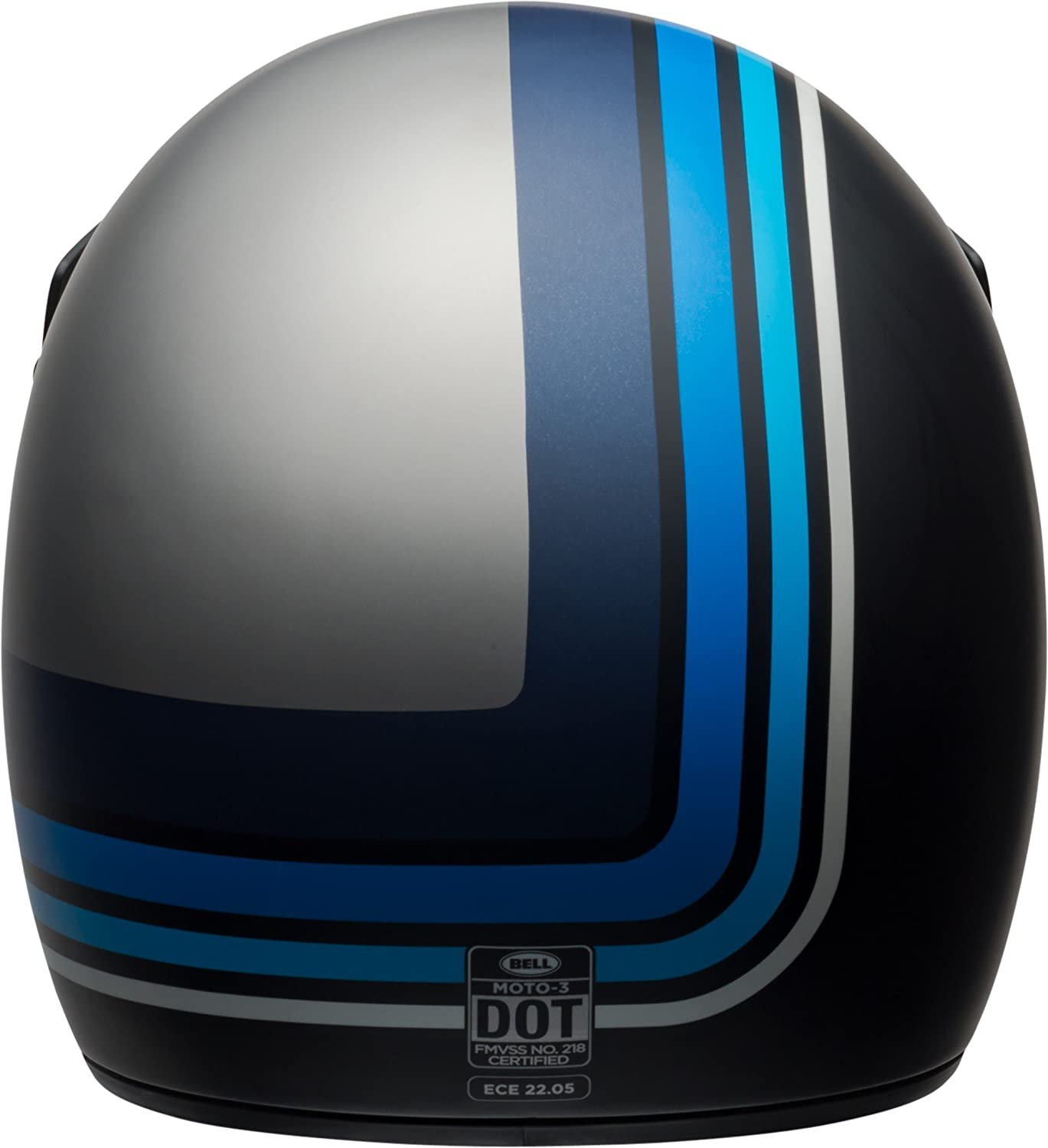 Amazon.com: Bell Moto-3 Off-Road Motorcycle Helmet (Matte Silver/Black/Blue Stripes, Small): Automotive