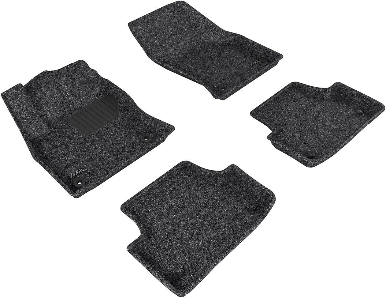 3D MAXpider Second Row Custom Fit All-Weather Floor Mat for Select Audi A3//S3 Models Classic Carpet Black