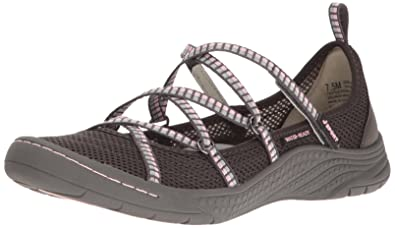 623f9e4127c5 JSport by Jambu Women s Sideline Encore Flat Charcoal Pink 6.5 M US
