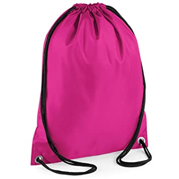 442649d0656b Boys Girls School PE Bag Waterproof Drawstring Backpack Swim Shoes Gym  Sports Bag (Bright Pink)  Amazon.co.uk  Luggage