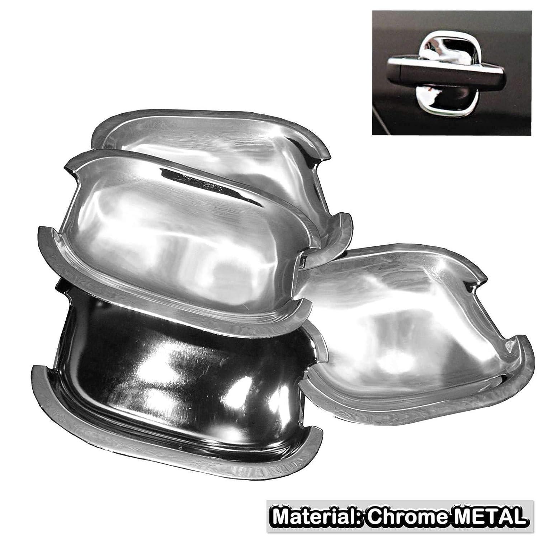 For Toyota Camry Corolla Rav4 Matrix Scion Yaris Chrome Door Handle Shell Trim Steel Stainless Metal Cup Bowls Inserts Key Scratch Guard SAISDON 1 Set of 4 Pieces