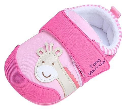 96e483c96 tongyouyuan Zapatos Zapatillas para Bebé Niños Niñas Primeros Pasos con  Suela Blanda Antideslizante Goma Dibujos Animados - Longitud 13cm Talla EU  20-22  ...