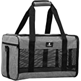 X-ZONE PET Airline Approved Soft-Sided Pet Travel Carrier for Dogs and Cats, Medium Cats Small Cats Carrier,Dog Carrier…