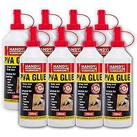 Handy Hardware 8PCE PVA Glue Quick Dry High Strength Multi Purpose 200ml
