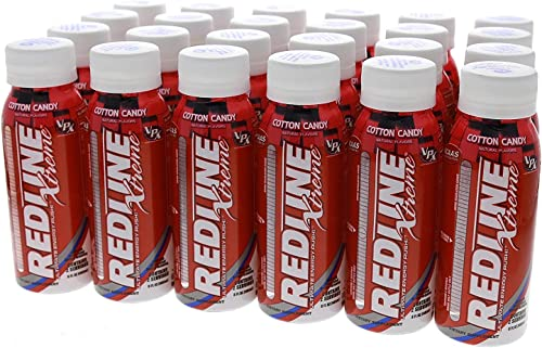 VPX Redline Xtreme, Cotton Candy, 8 Ounce Bottles, 24 Count