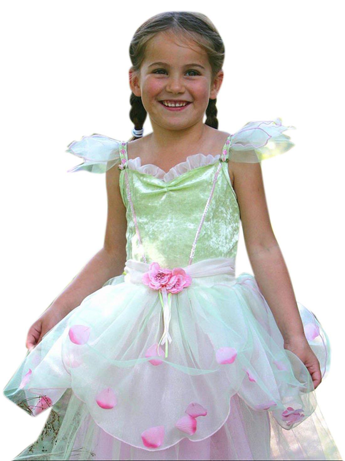 Confettery - Mädchen Karneval Kostüm Kleid Apple Blossom, Mehrfarbig, Größe 98-110, 3-5 Jahre